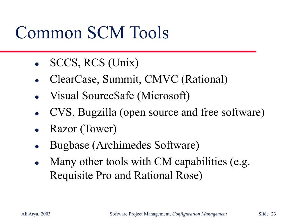Common SCM Tools