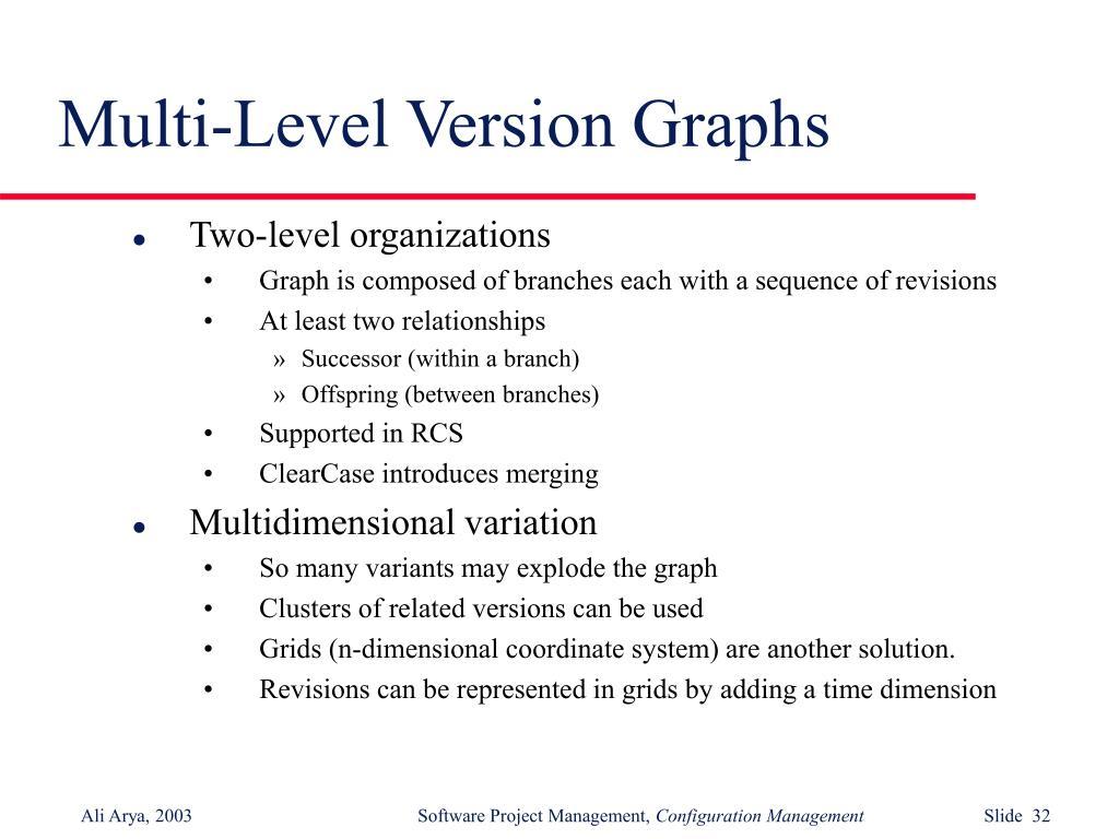 Multi-Level Version Graphs