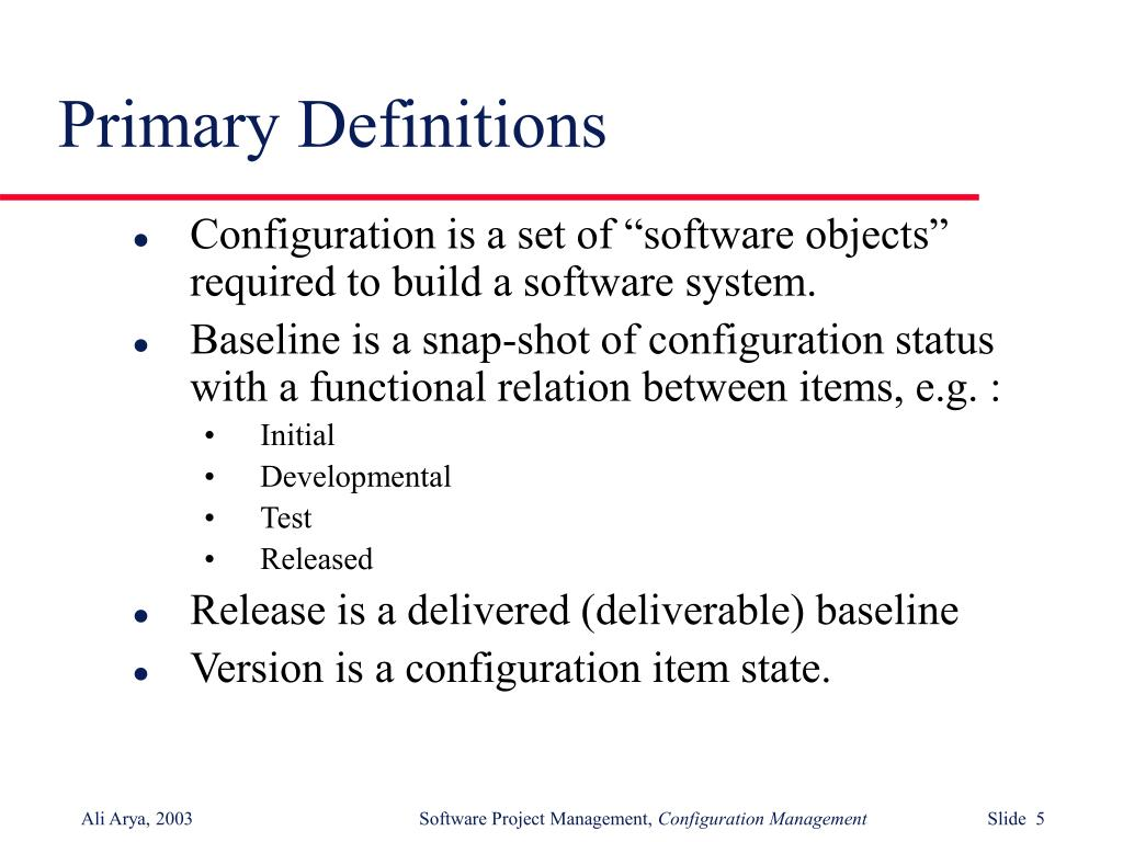 Primary Definitions