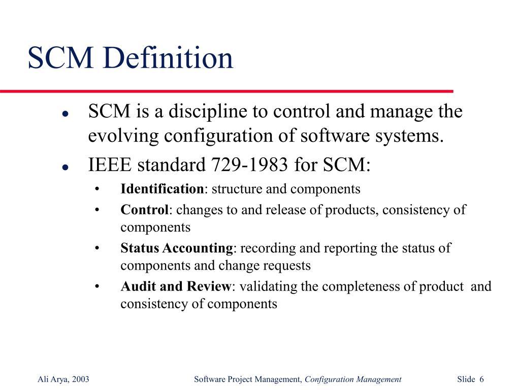 SCM Definition