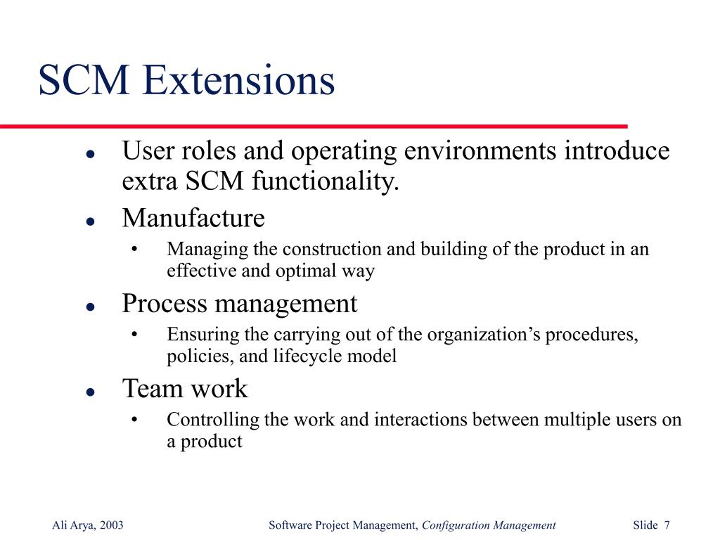 SCM Extensions