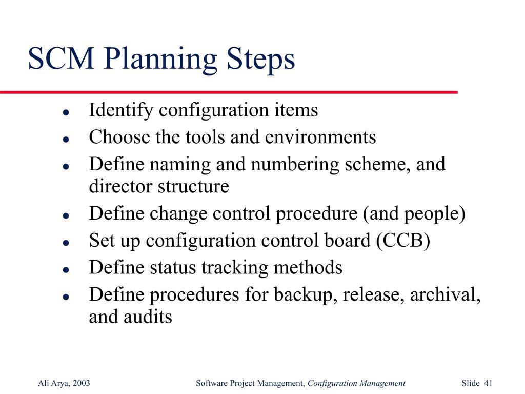SCM Planning Steps
