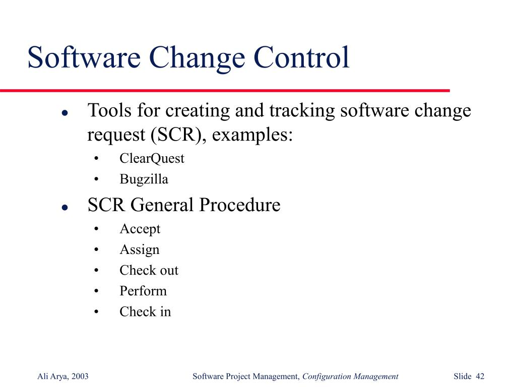 Software Change Control