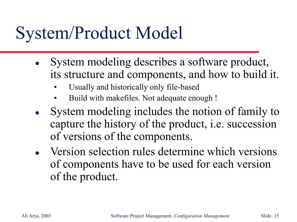 System/Product Model