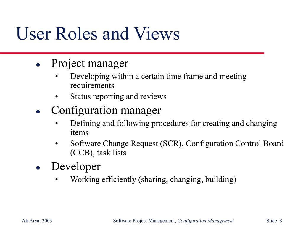 User Roles and Views