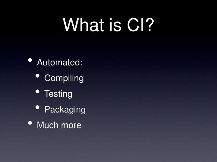What is ci