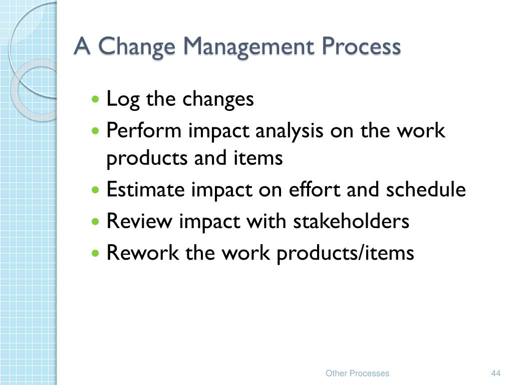 A Change Management Process
