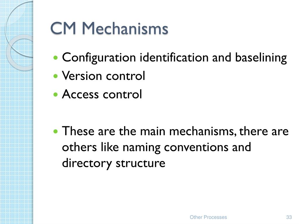 CM Mechanisms