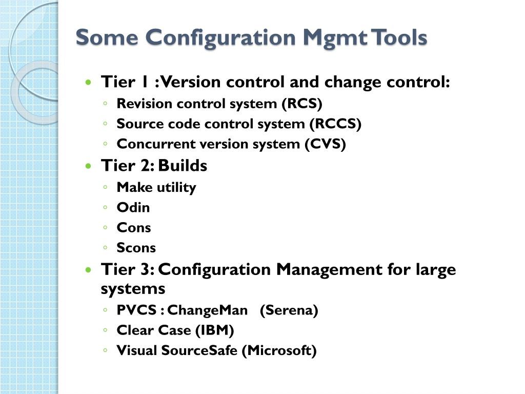 Some Configuration Mgmt Tools