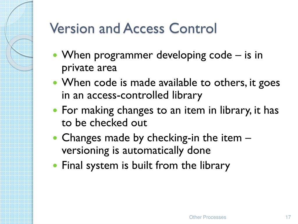 Version and Access Control
