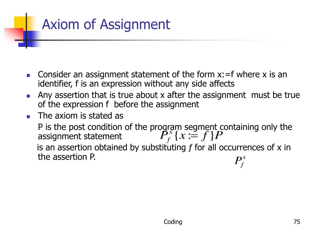 Axiom of Assignment