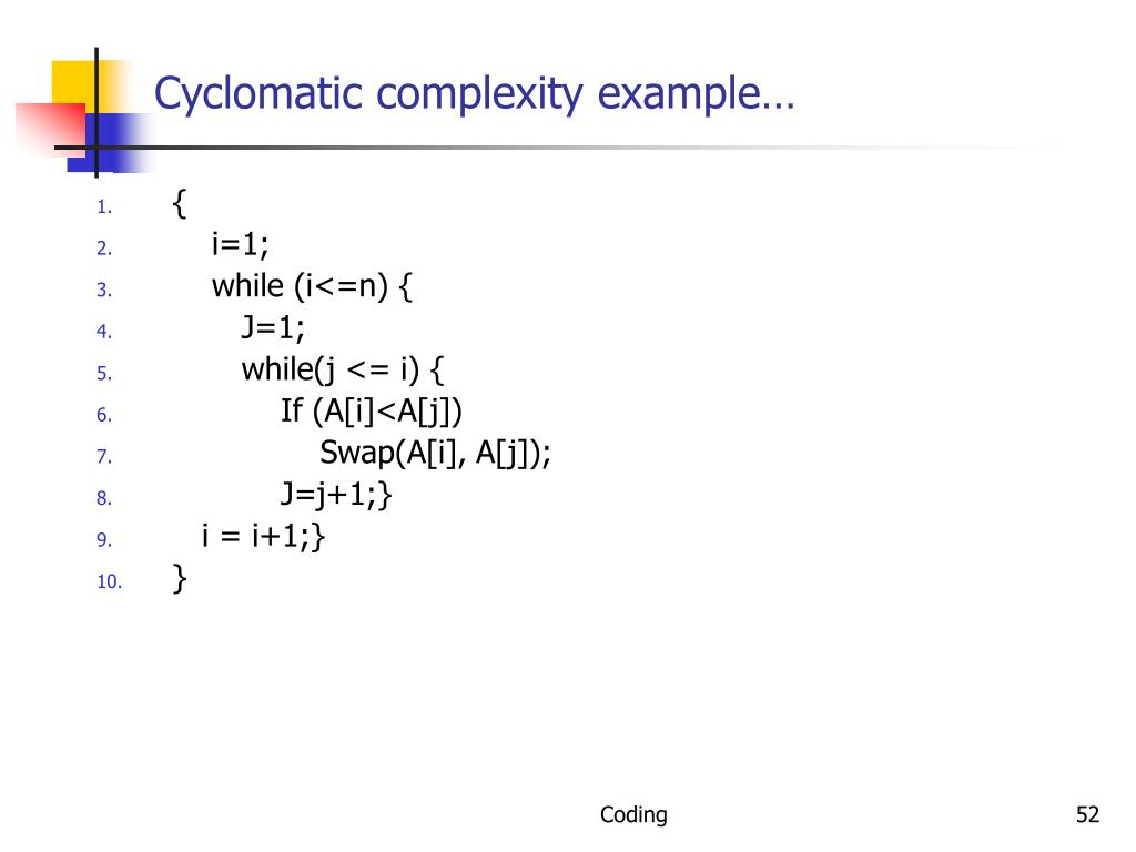 Cyclomatic complexity example…