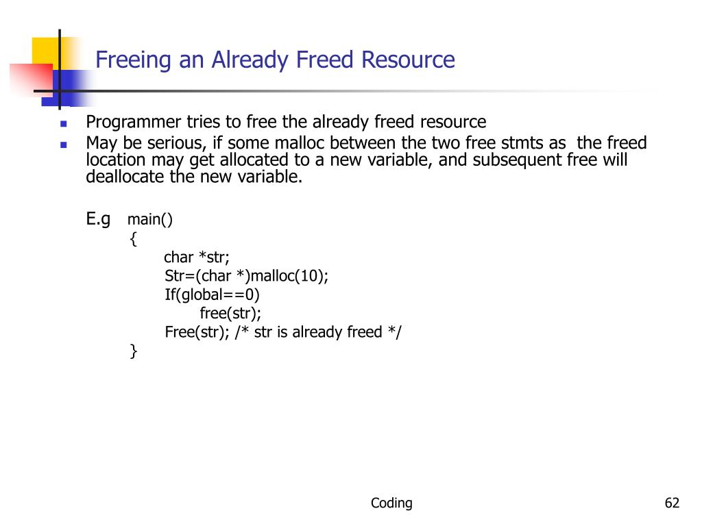 Freeing an Already Freed Resource