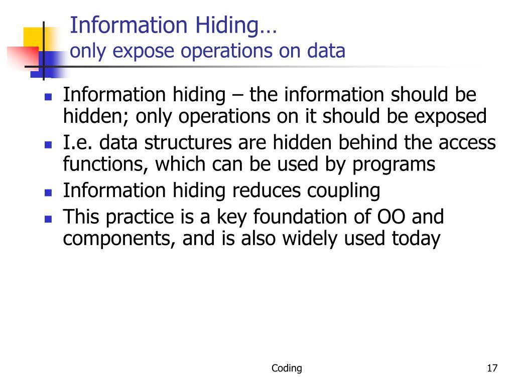 Information Hiding…