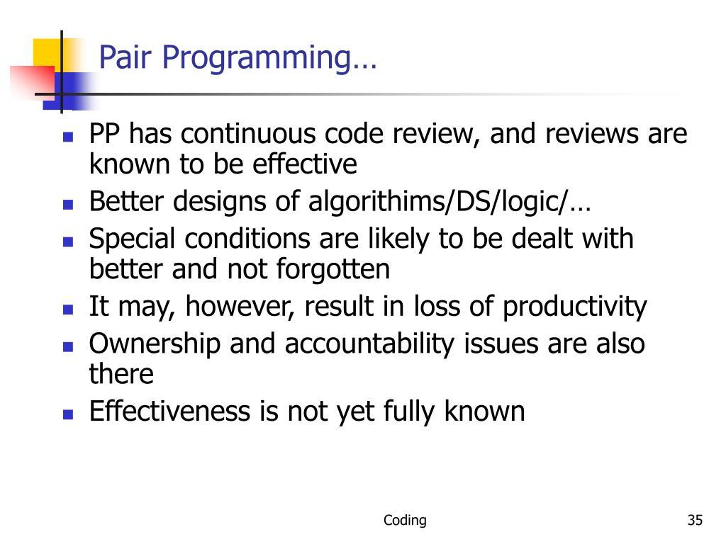Pair Programming…
