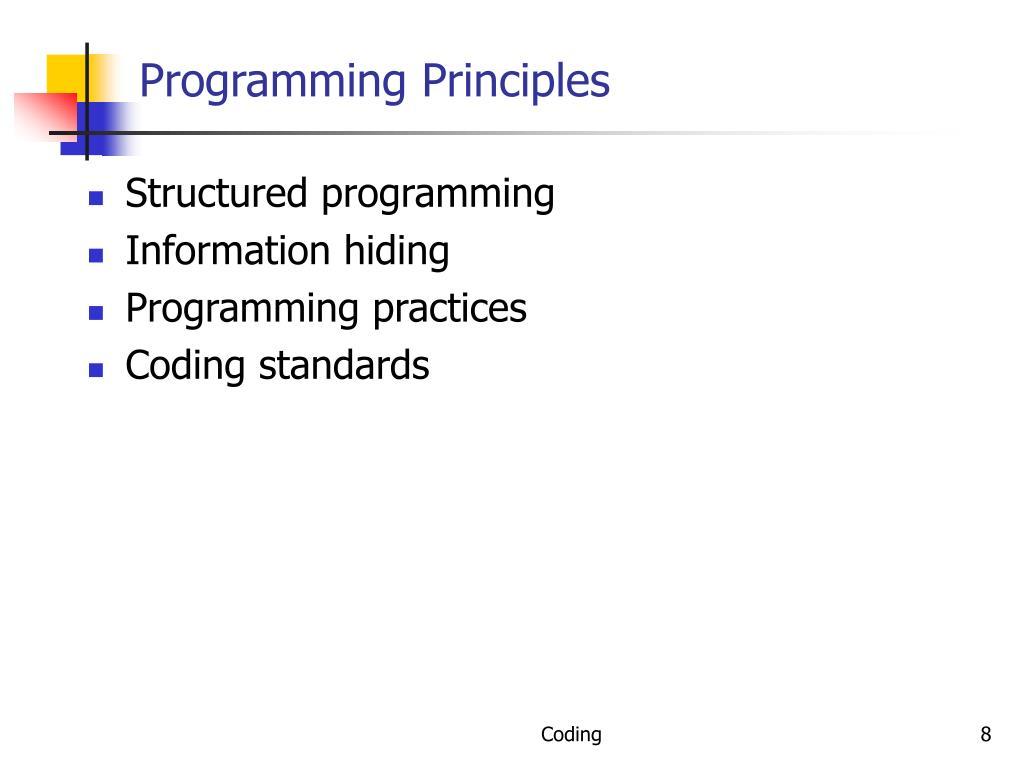 Programming Principles