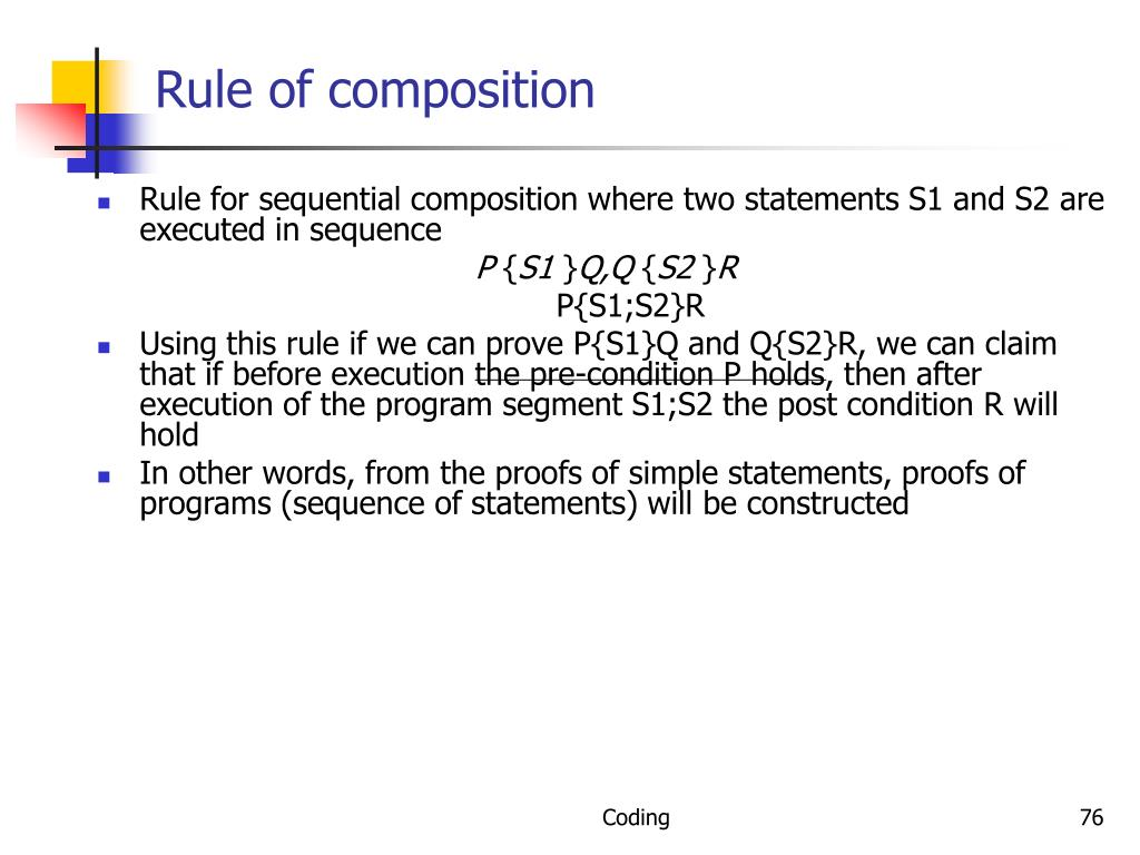 Rule of composition