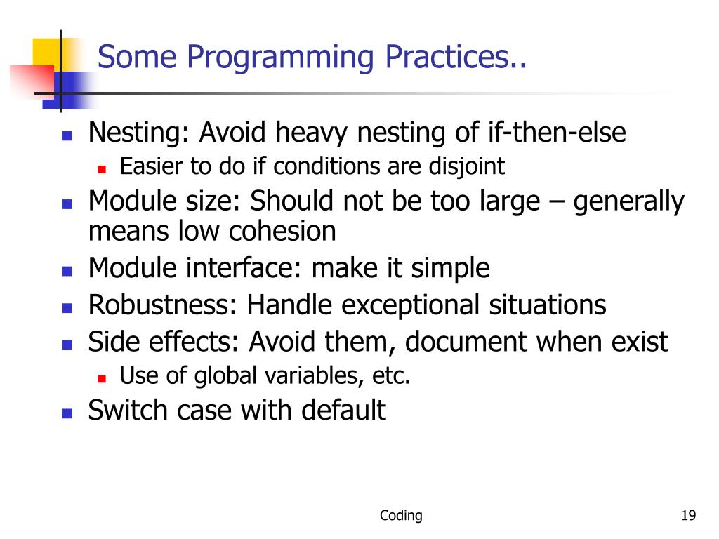 Some Programming Practices..