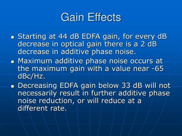 Gain Effects