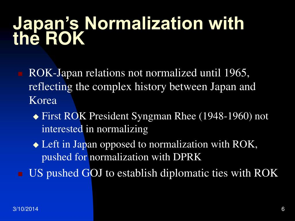 Japan's Normalization with the ROK