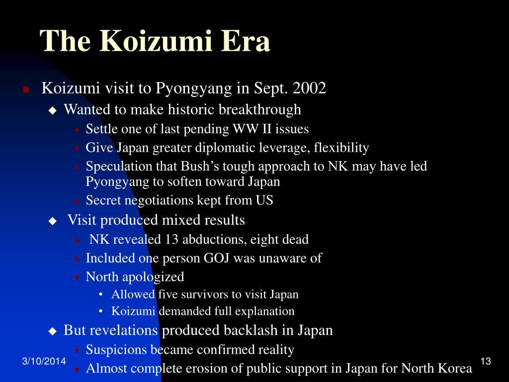 The Koizumi Era