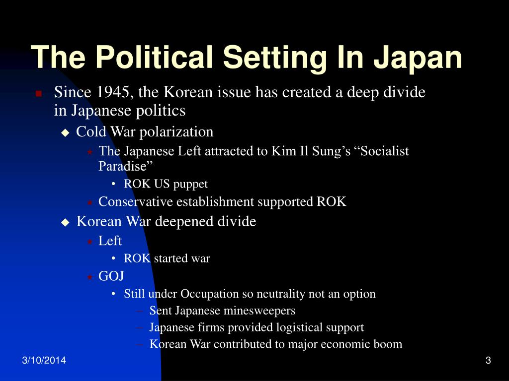 The Political Setting In Japan