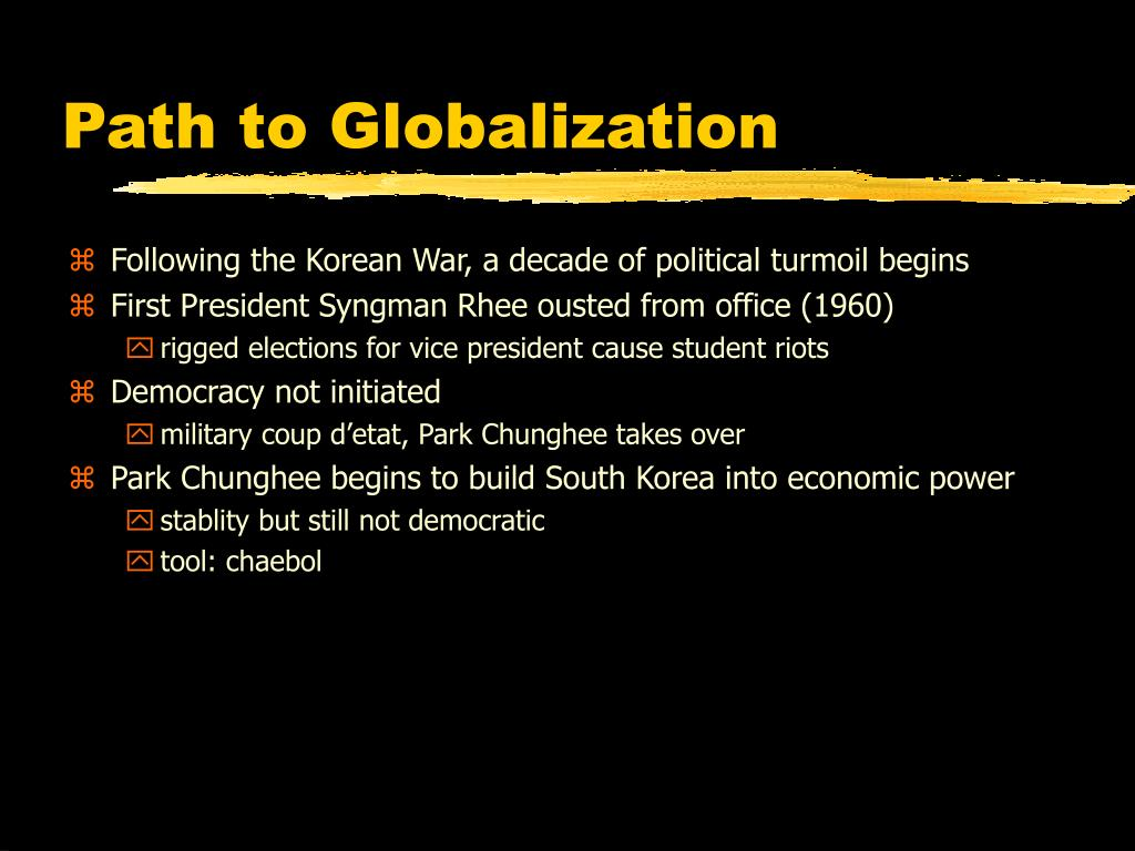 Path to Globalization