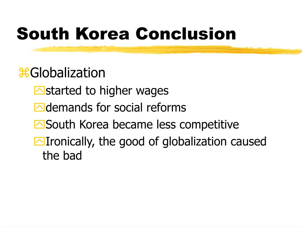South Korea Conclusion