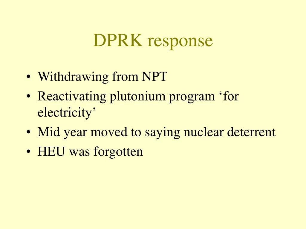 DPRK response