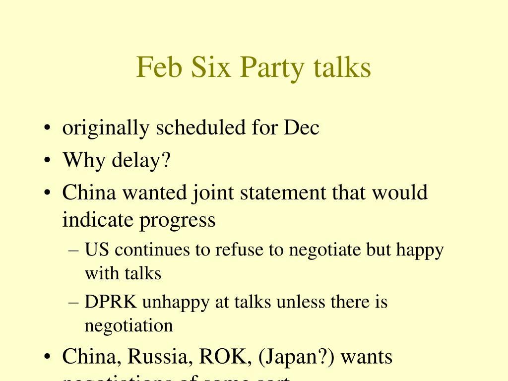 Feb Six Party talks
