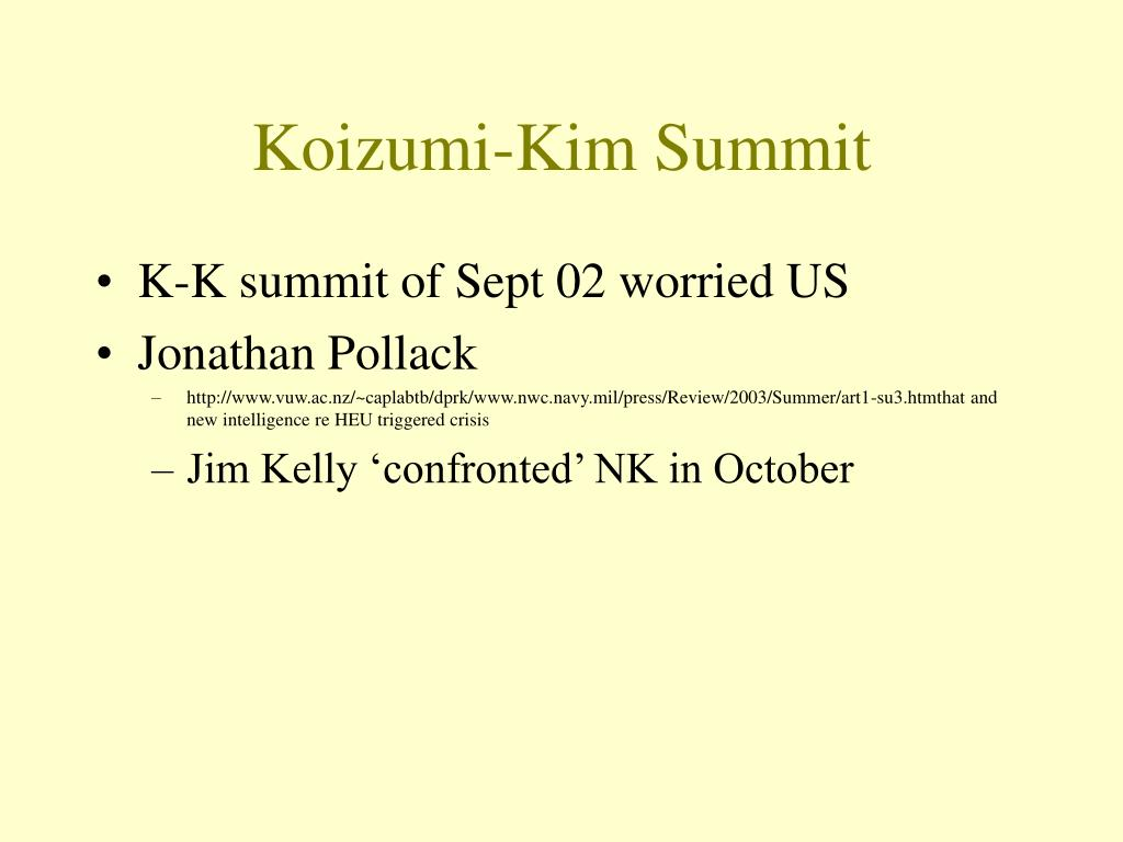 Koizumi-Kim Summit