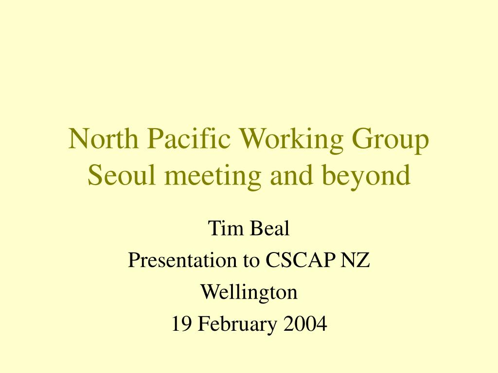 North Pacific Working Group