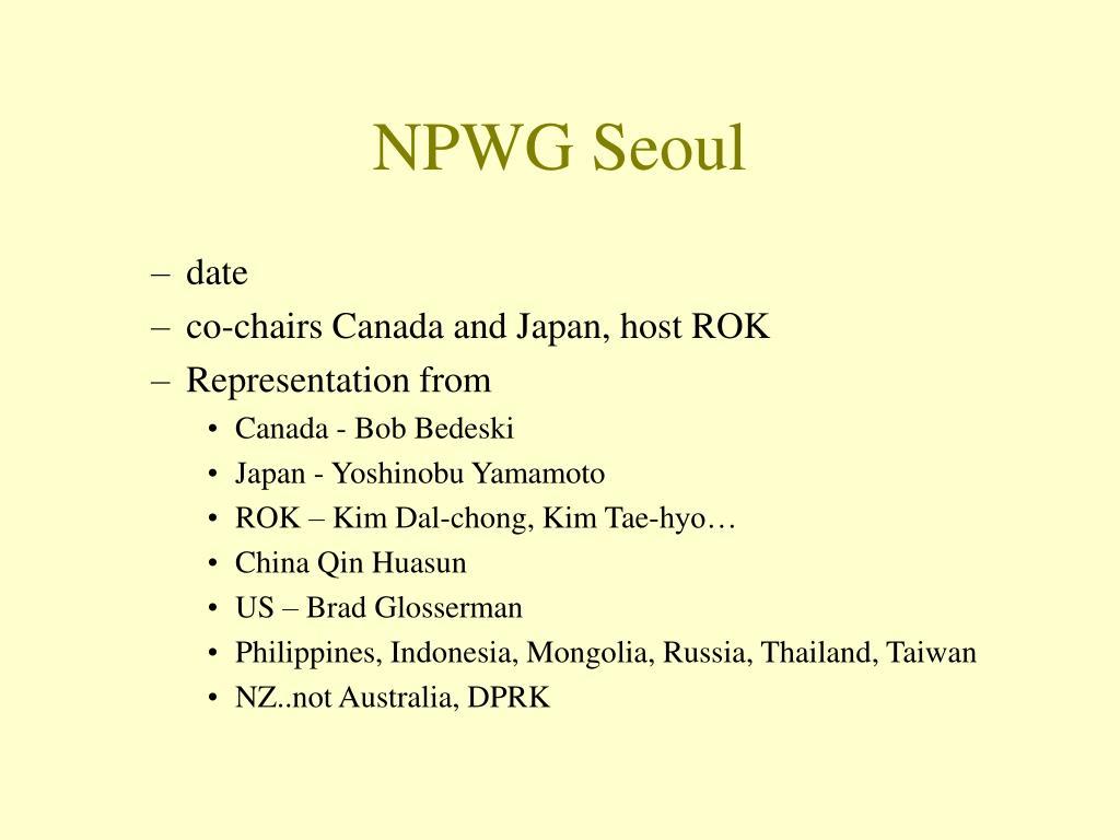 NPWG Seoul