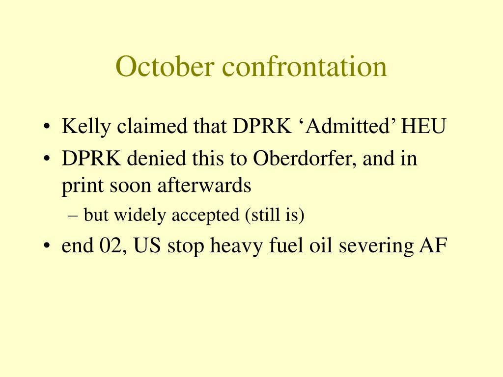 October confrontation