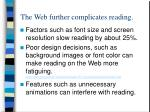 the web further complicates reading