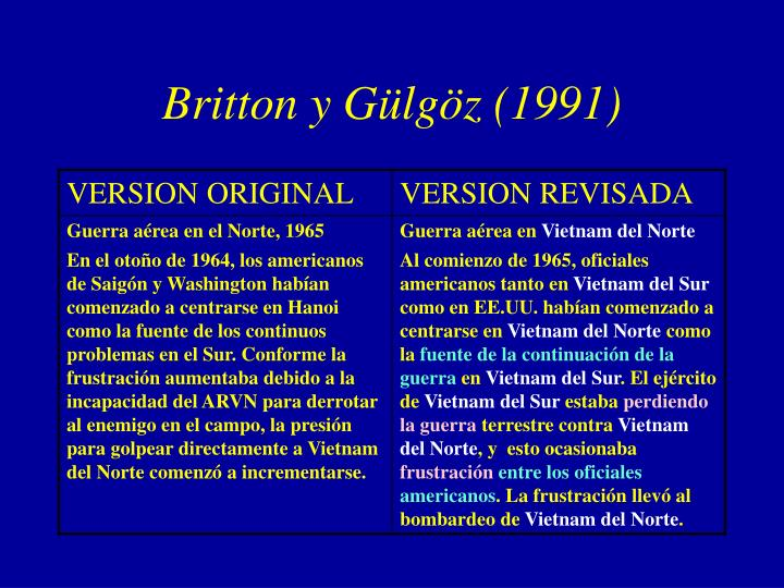 Britton y Gülgöz (1991