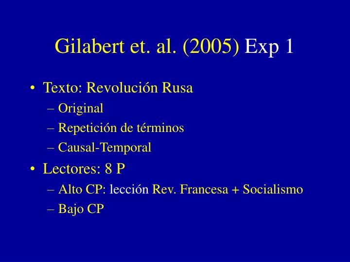 Gilabert et. al. (2005)