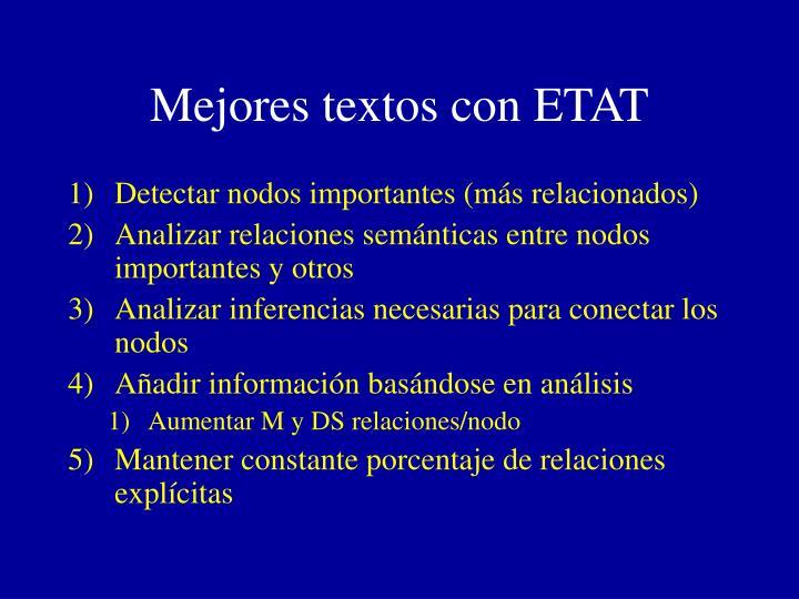 Mejores textos con ETAT