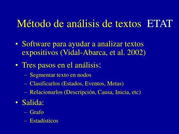 Método de análisis de textos