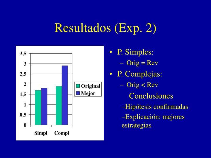 Resultados (Exp. 2)