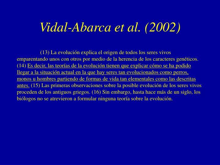 Vidal-Abarca et al. (2002)