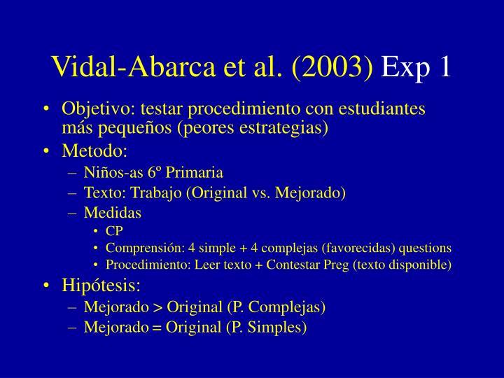 Vidal-Abarca et al. (2003)