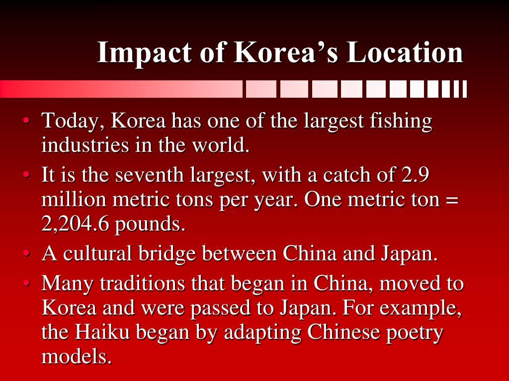 Impact of Korea's Location