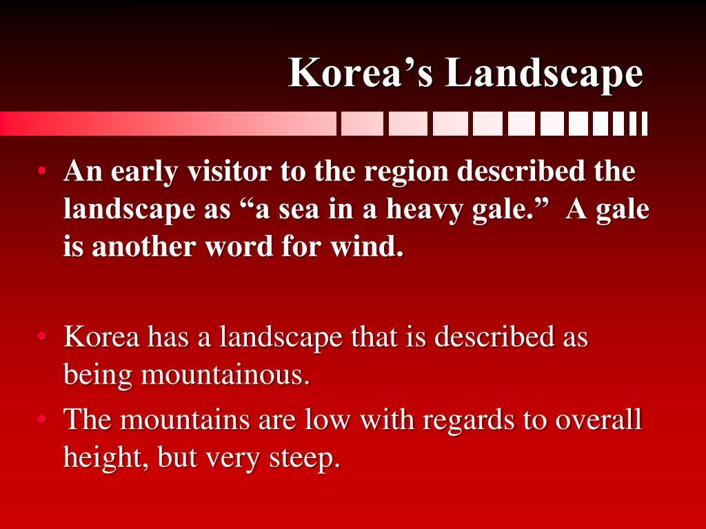 Korea's Landscape
