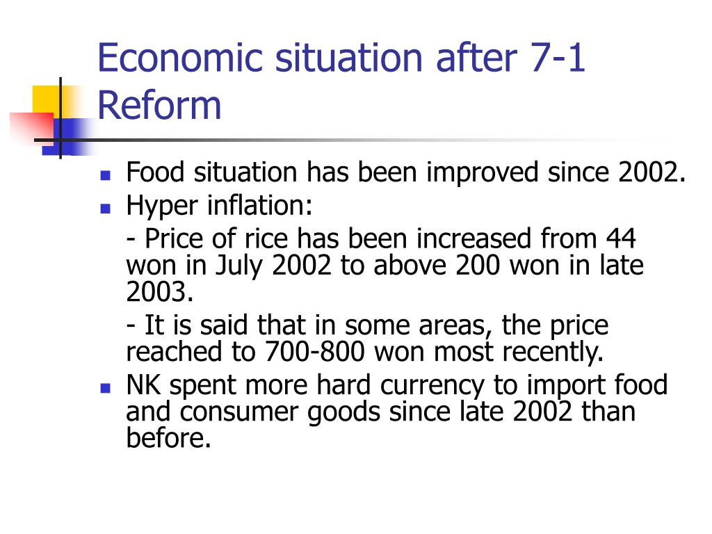 Economic situation after 7-1 Reform