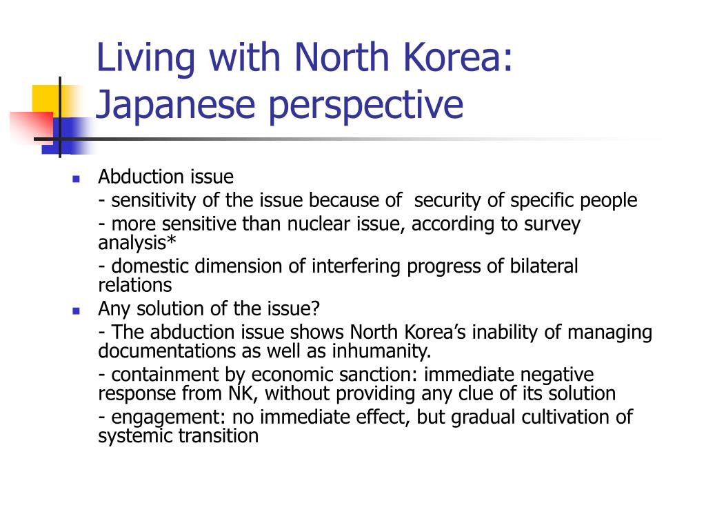 Living with North Korea: Japanese perspective