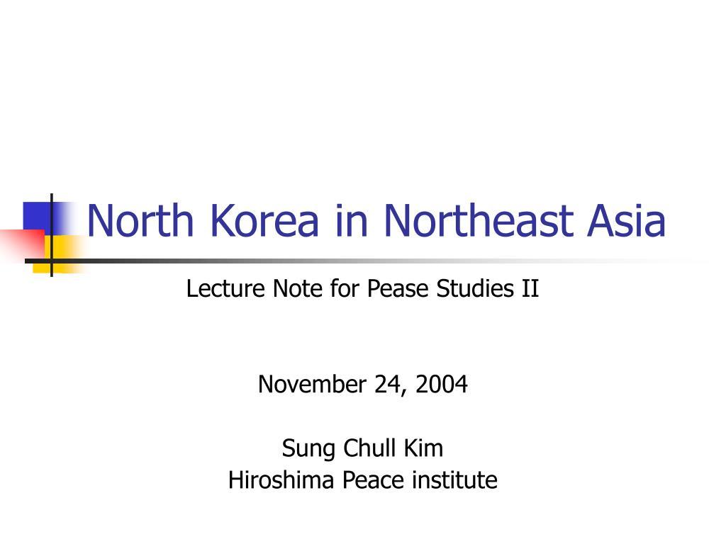 North Korea in Northeast Asia