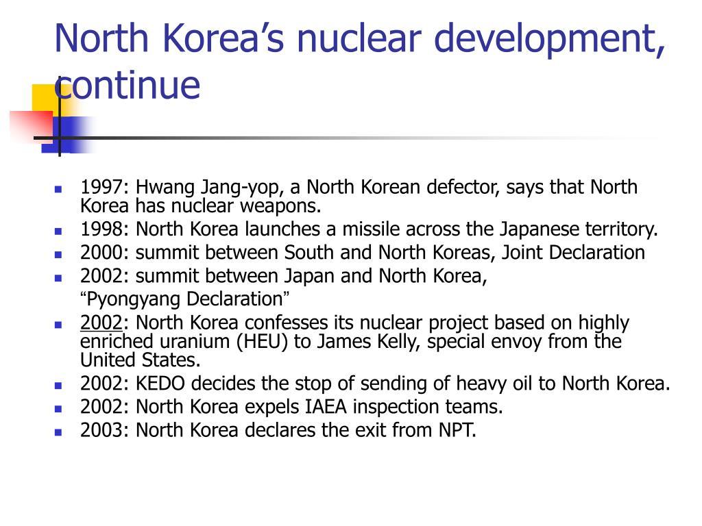 North Korea's nuclear development,
