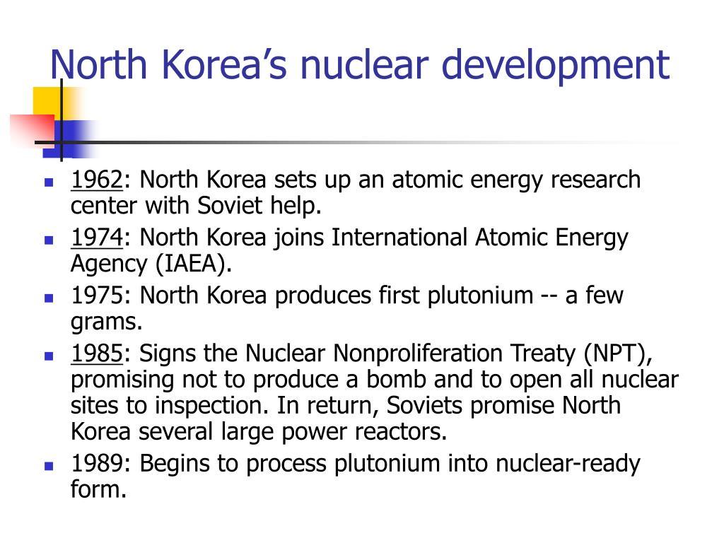 North Korea's nuclear development