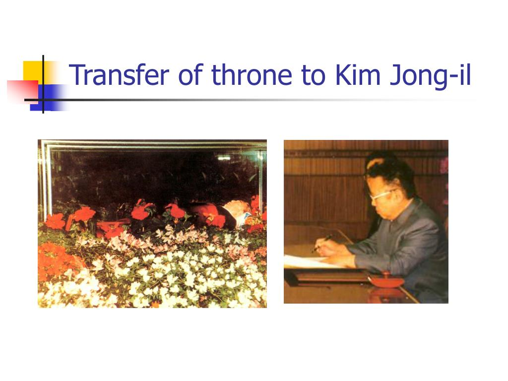 Transfer of throne to Kim Jong-il